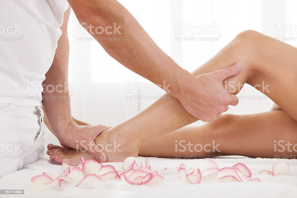 Stressed toes needs to relax stock photo