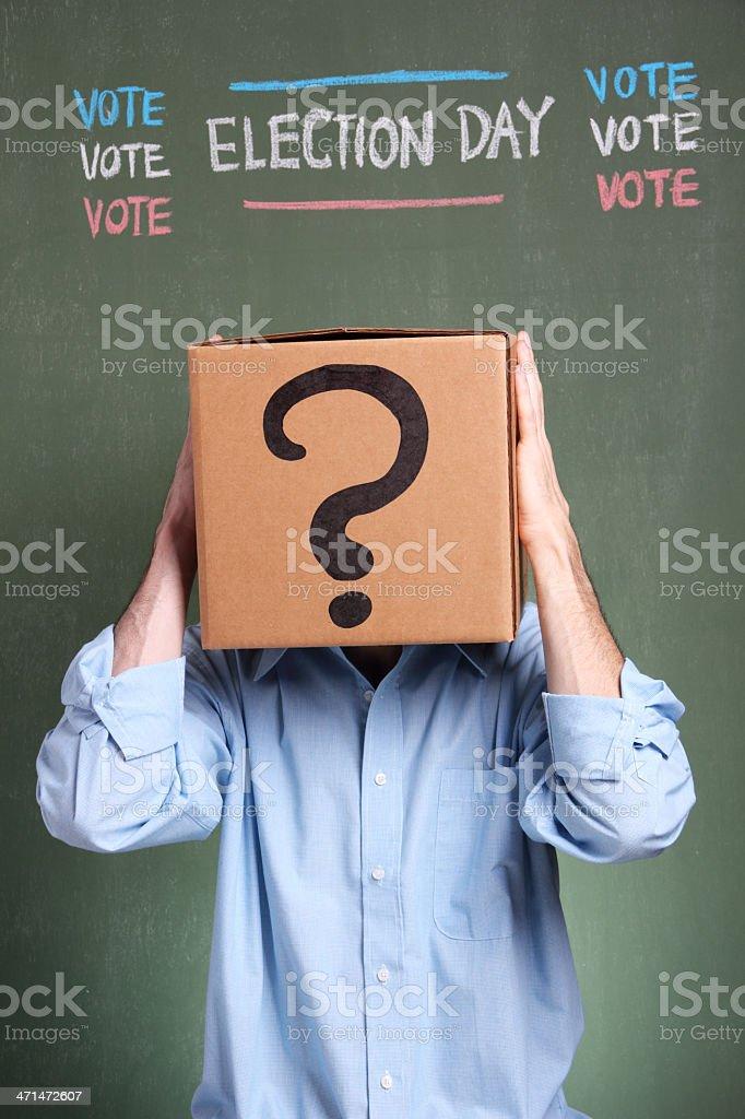 Stressed Voter stock photo