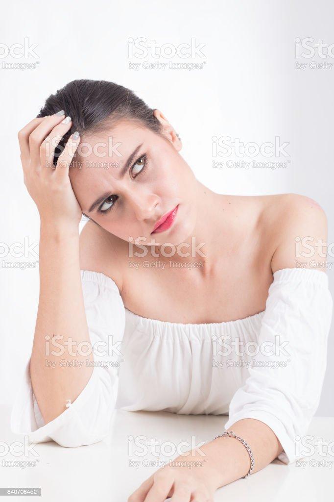 Stressed women unemployed stock photo