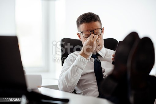 539437954 istock photo Stressed young businessman stock photo 1222520861