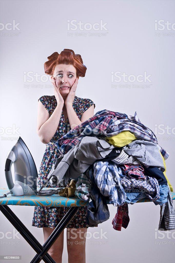 Mujer joven de tensión - foto de stock