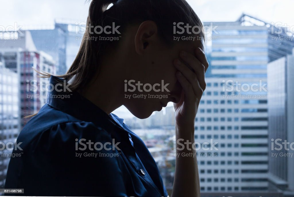 Stressful day stock photo