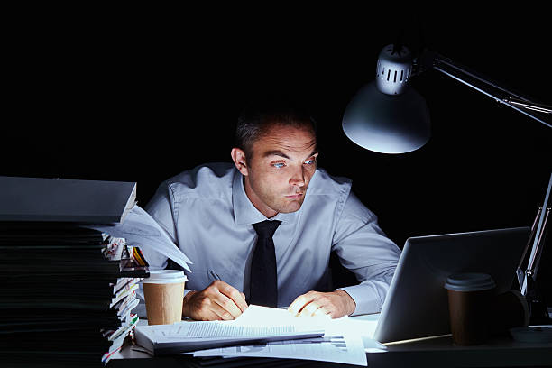 Stressful deadline stock photo