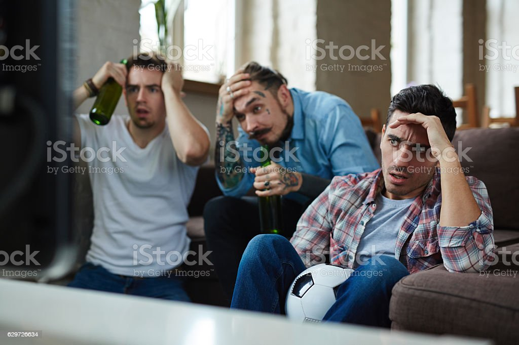 Stressful game stock photo