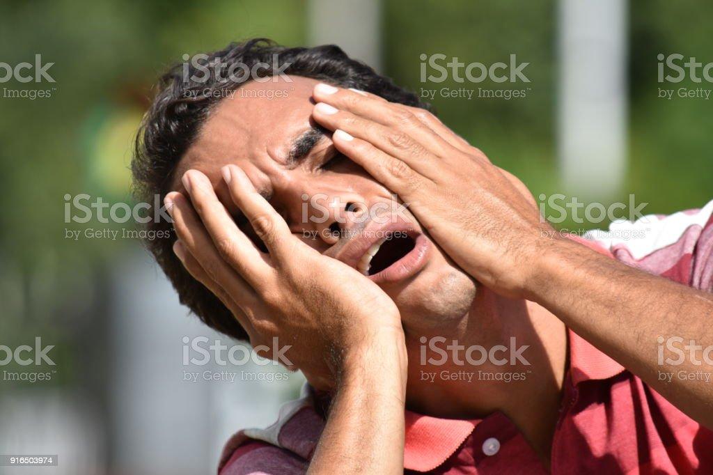 Stressful Minority Male stock photo