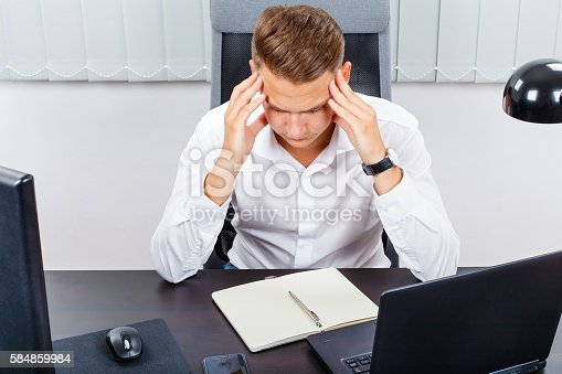 857213750istockphoto Stressful office work 584859984