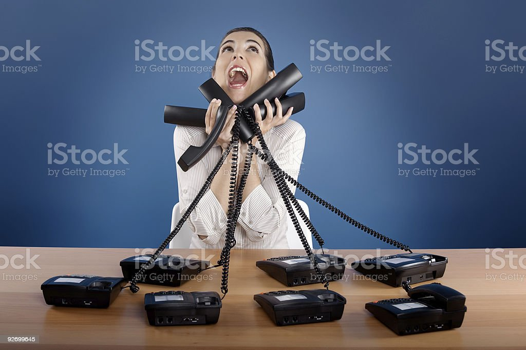 Stressful work stock photo
