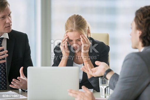 istock Stressing atmosphere at business meeting 628471682