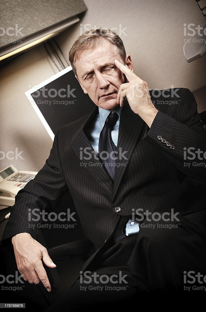 Stressing Businessman royalty-free stock photo