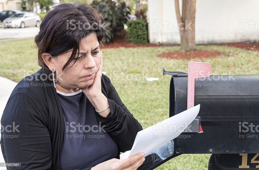Stressing news stock photo