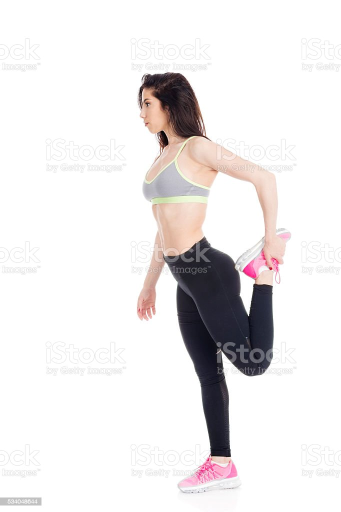 Stretch and avoid injury stock photo