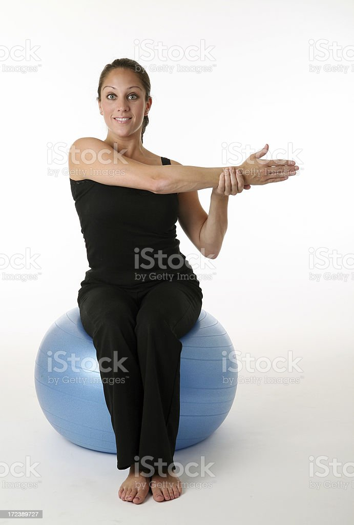 stretch and balance royalty-free stock photo