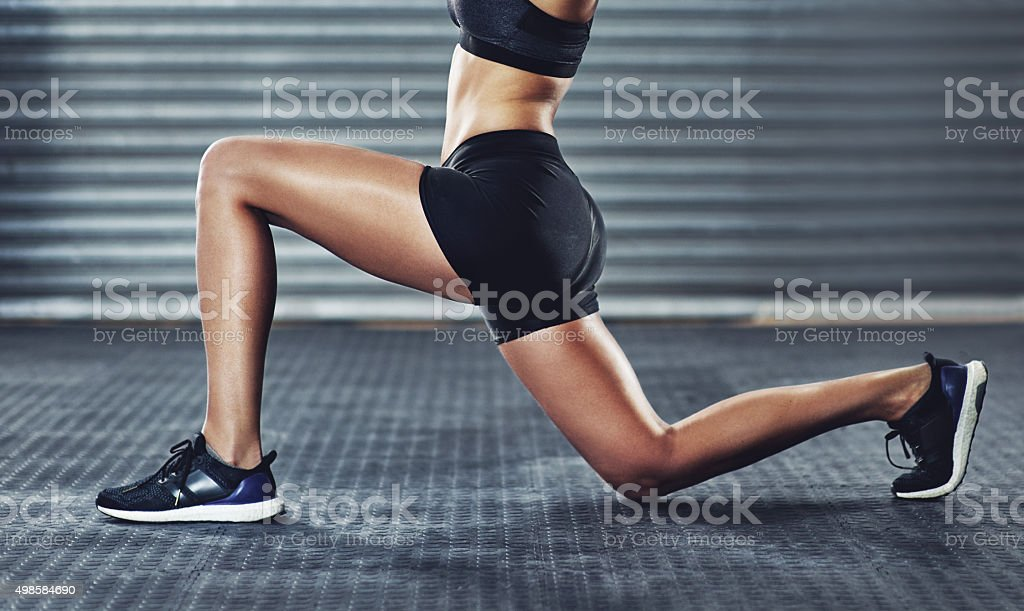 Stretch and strengthen stock photo