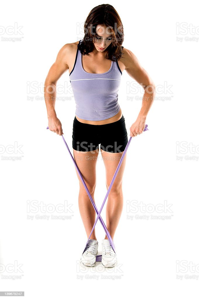 Stretch Band Yoga Work Out royalty-free stock photo