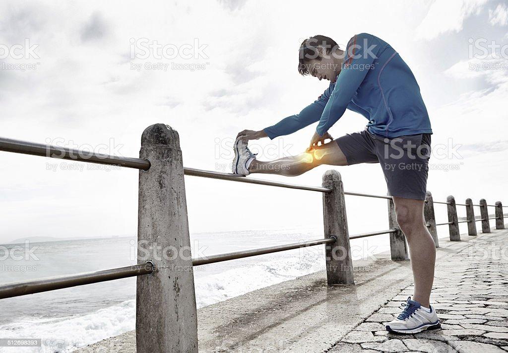Stretch.and Verletzungen zu vermeiden - Lizenzfrei Gelenk Stock-Foto