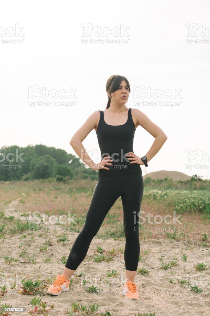Stretched and fit photo libre de droits