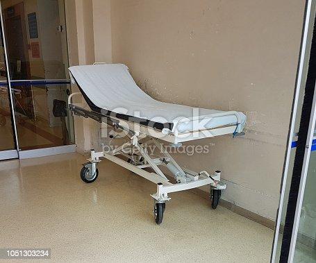 istock stretcher emergency hospital white color 1051303234