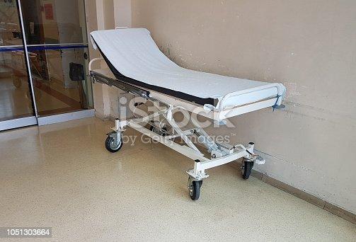 istock stretcher emergency hospital white color 1051303664