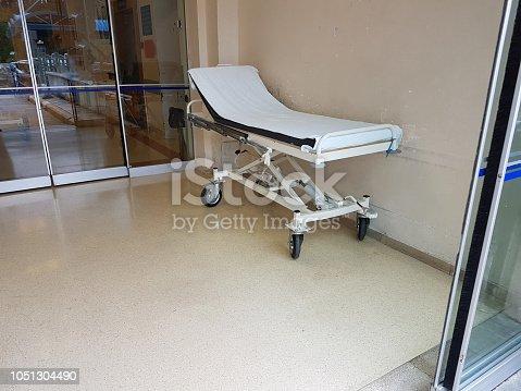istock stretcher emergency hospital white color 1051304490