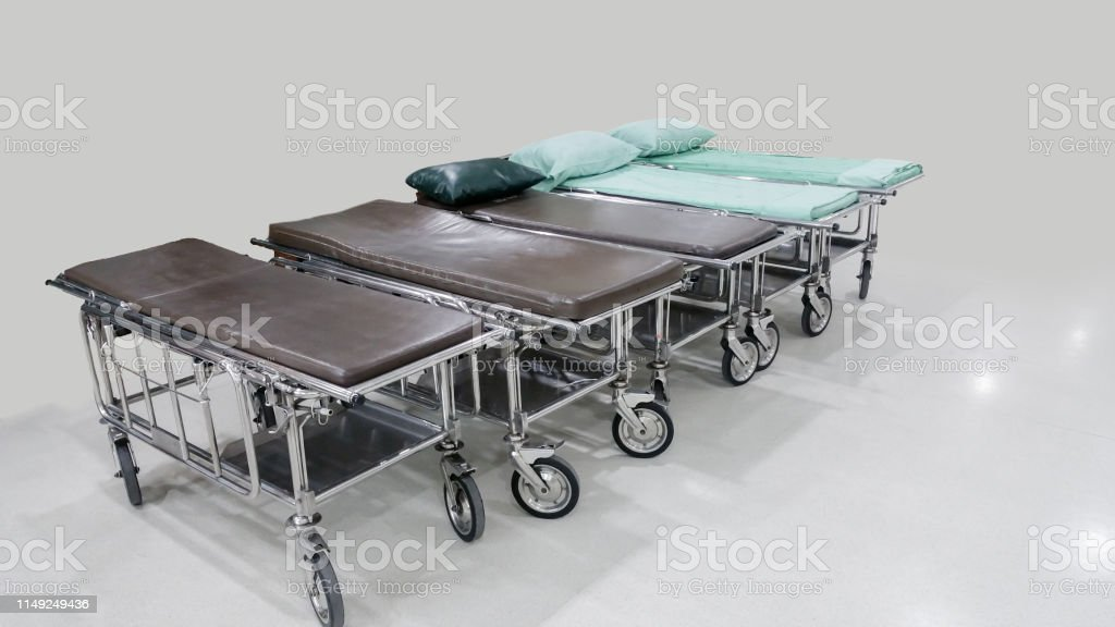 Stretcher Troller or Patient bed in the hospital waiting for patient...