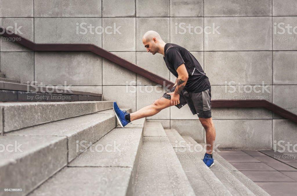 Dehnübungen nach dem Training – Foto