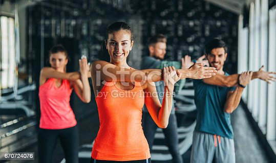 istock Stretching at the gym 670724076