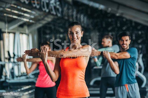 istock Stretching at the gym 686925362