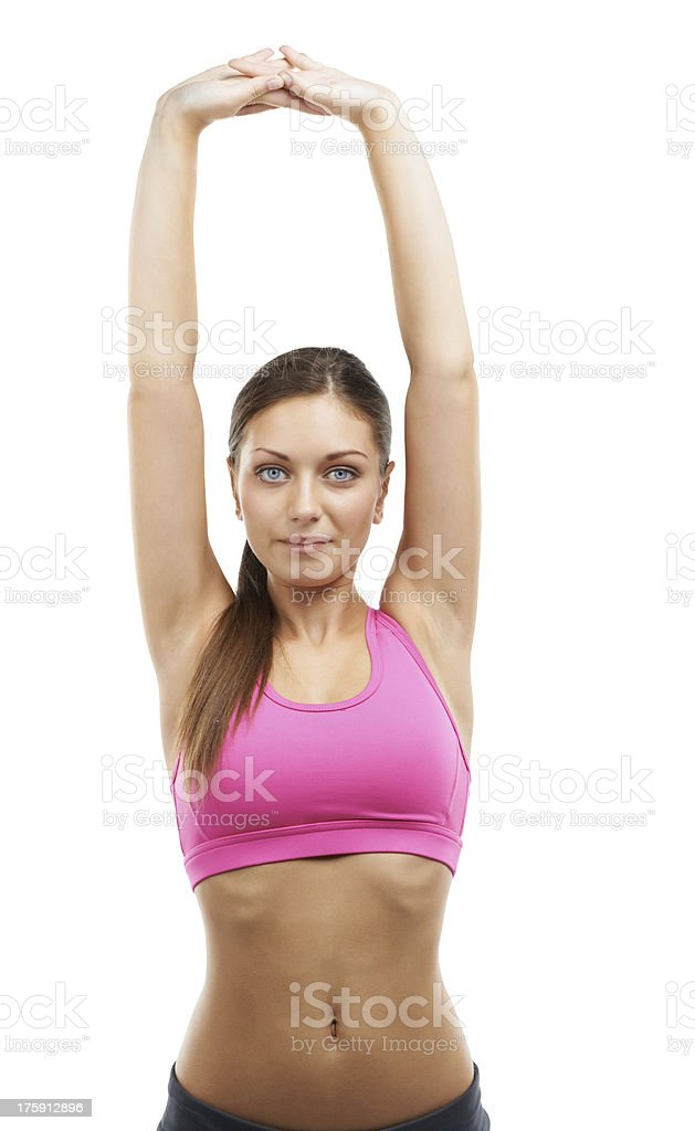 Stretching before a jog royalty-free stock photo