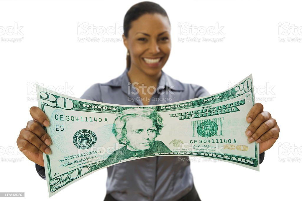 Stretching  Currency royalty-free stock photo