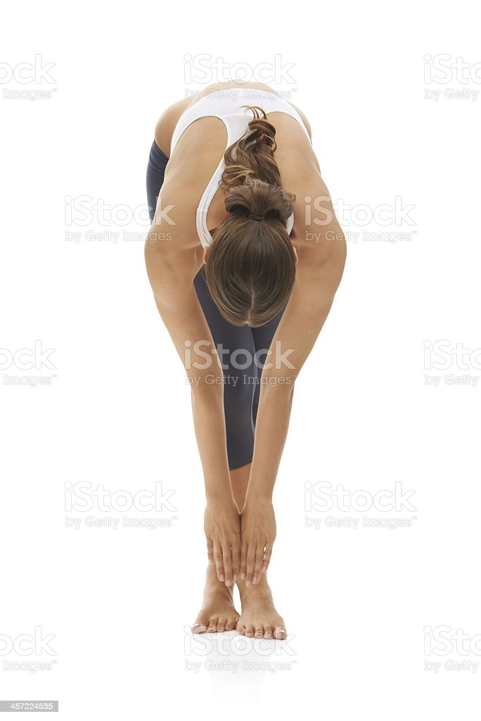 Stretching every muscle stock photo