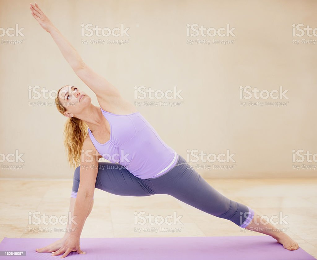 Stretching for better health royalty-free stock photo