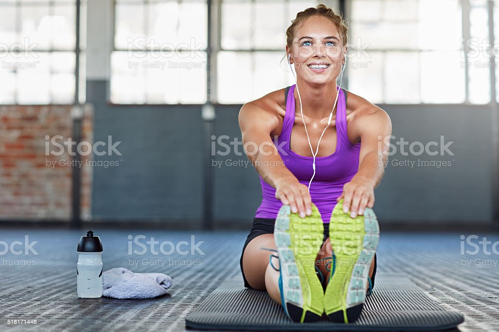 Stretching further every day stock photo