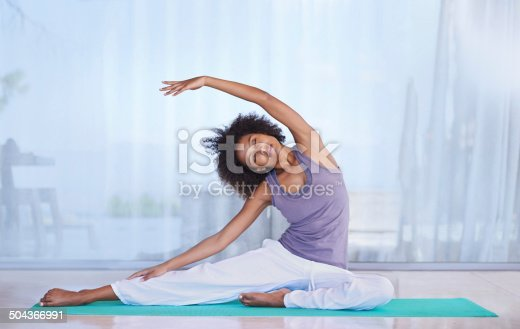 istock Stretching her sides 504366991