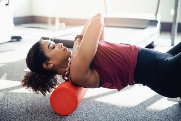 Stretching Ihr Oberer Rücken – Foto