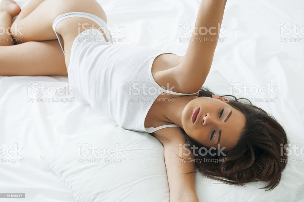 Stretching in the Morning royalty-free stock photo