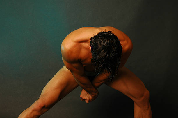 stretching male stock photo