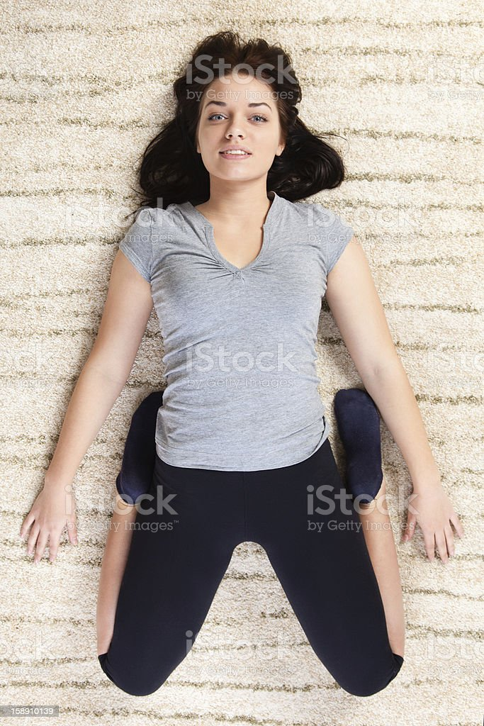 Stretching muscles royalty-free stock photo