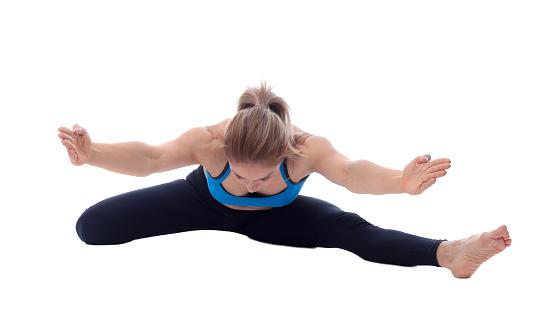 istock Stretching of adductors, ischio and quadriceps 677341258