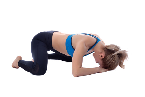 istock Stretching of adductors 672381706