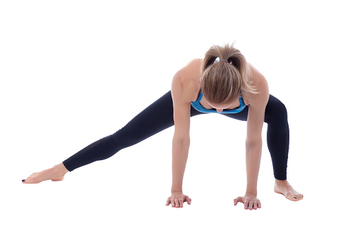 istock Stretching of adductors 672386170