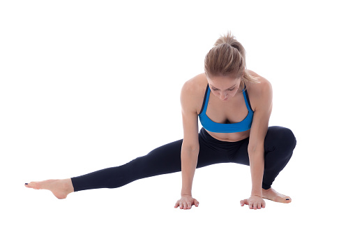 istock Stretching of adductors 677339252