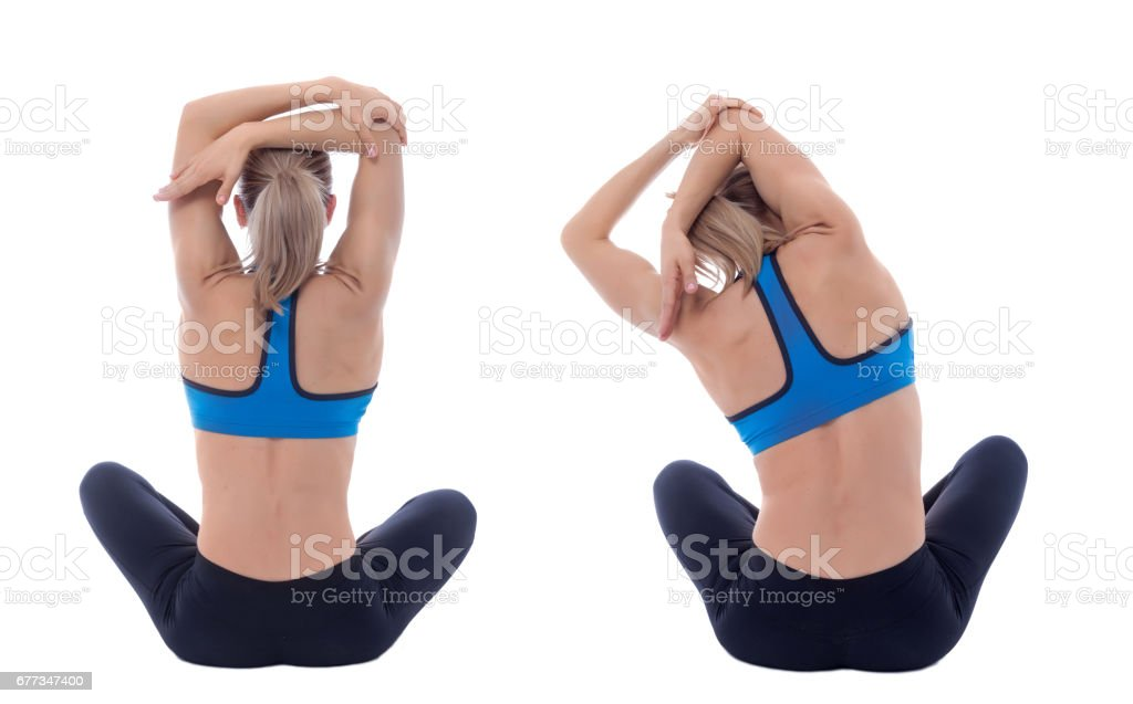 Stretching of big dorsal stock photo