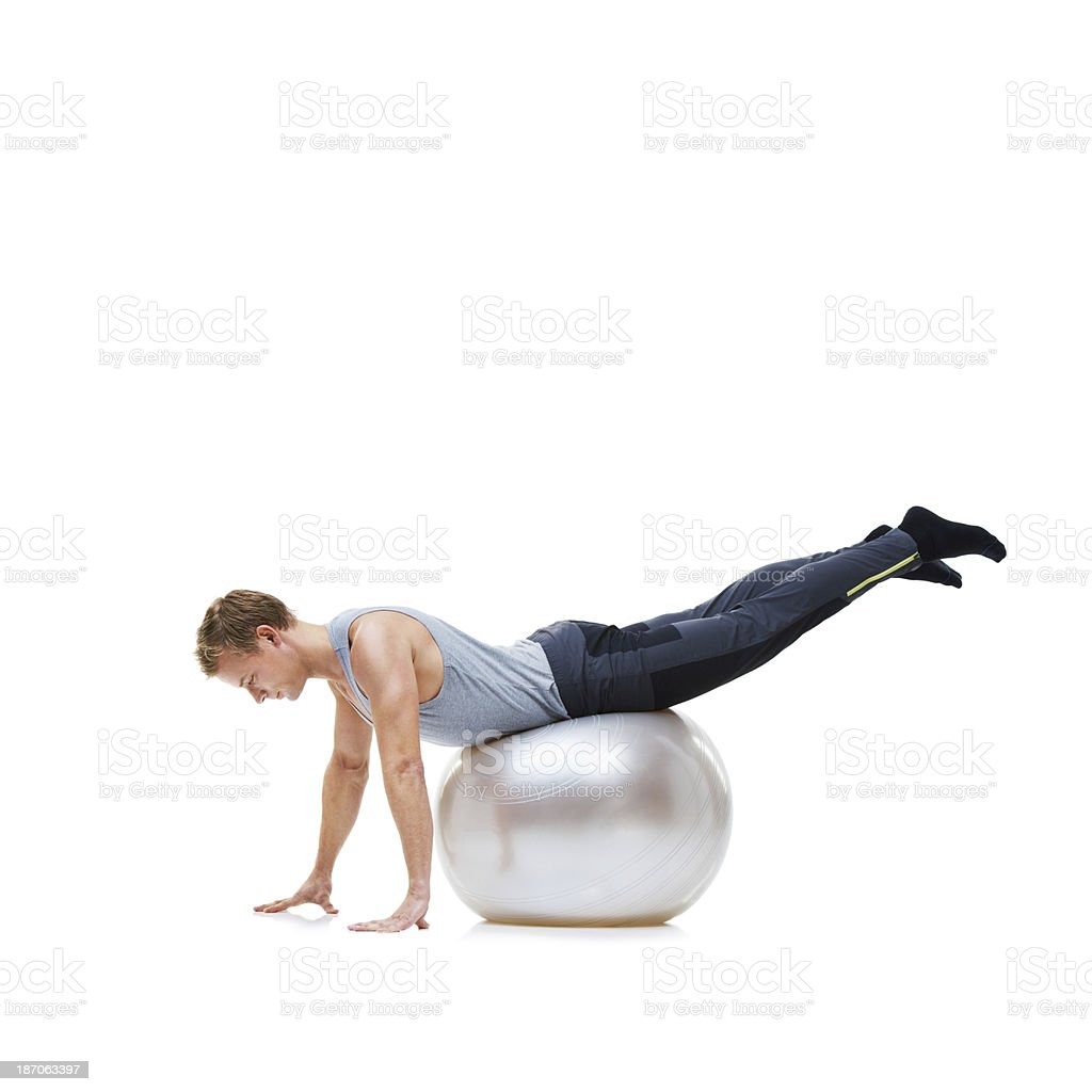 Stretching out his muscles royalty-free stock photo