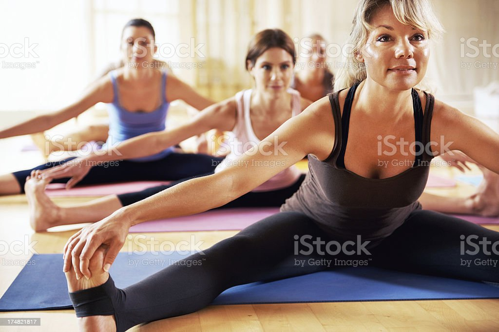 Stretching out those legs royalty-free stock photo