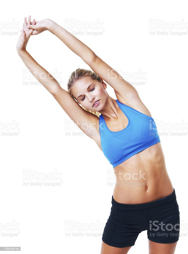 Stretching out those muscles royalty-free stock photo