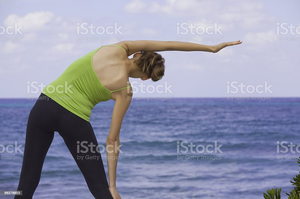 stretching outdoor royalty-free stock photo