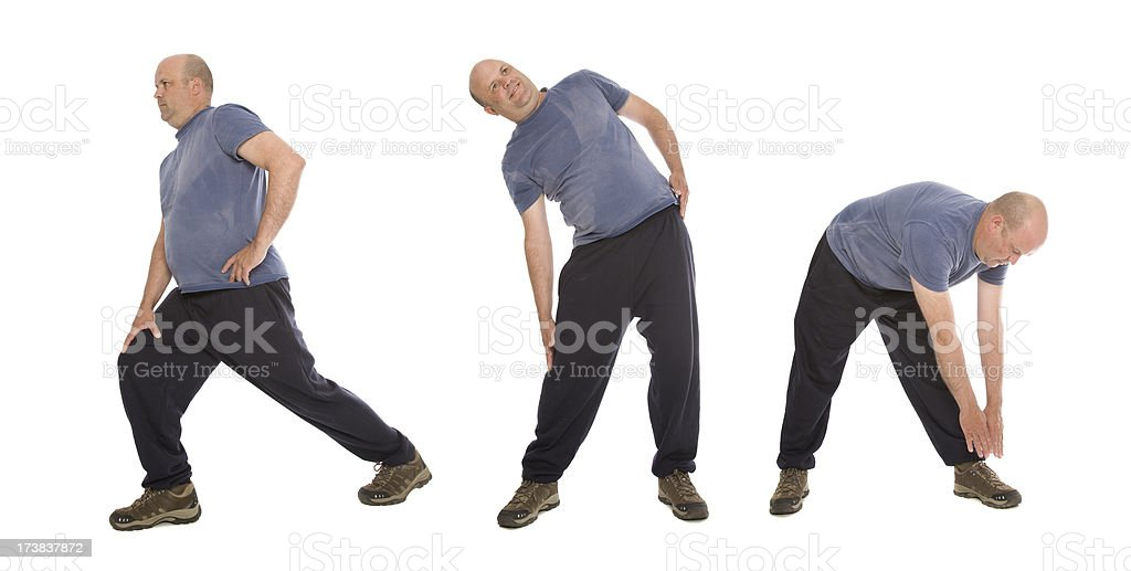 Stretching Series royalty-free stock photo