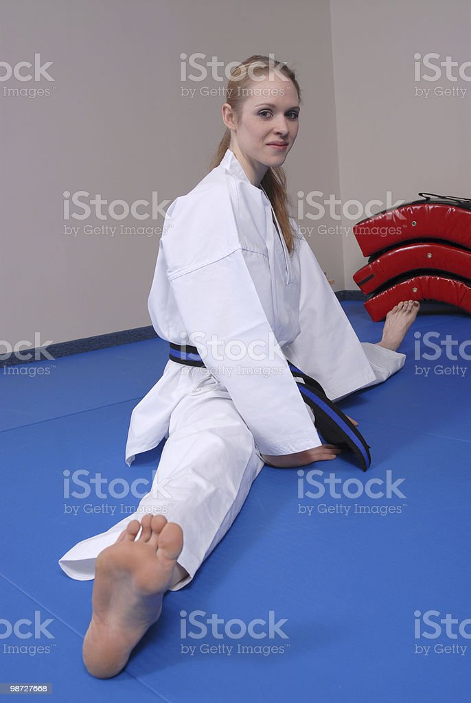Stretching style royalty-free stock photo