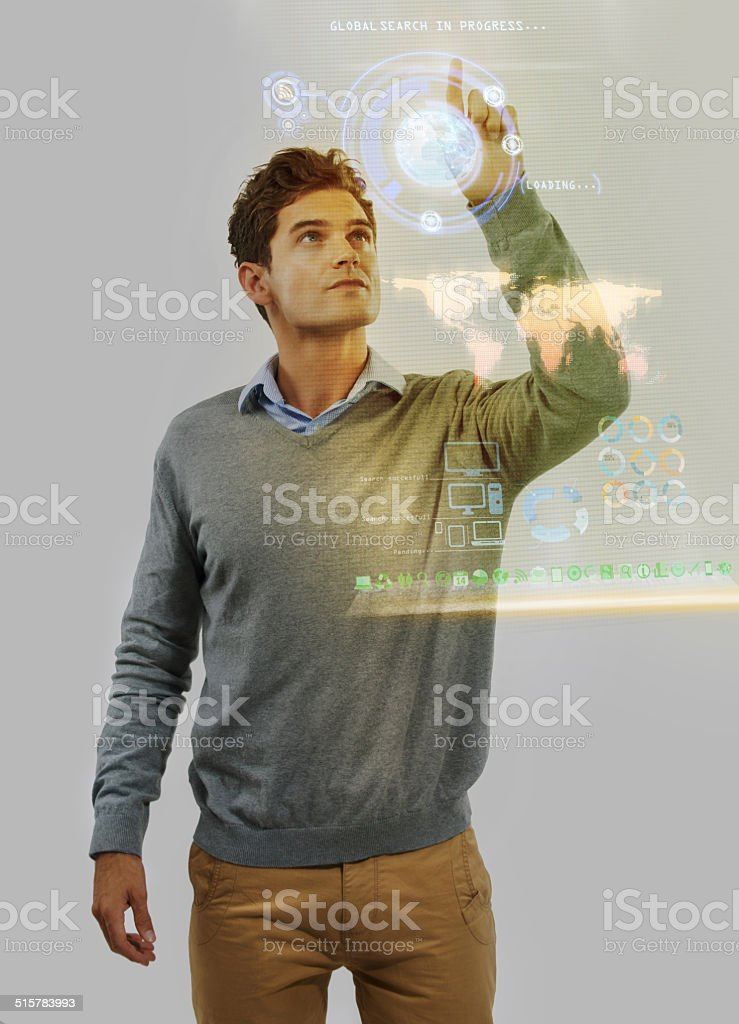 Stretching technology's limits stock photo