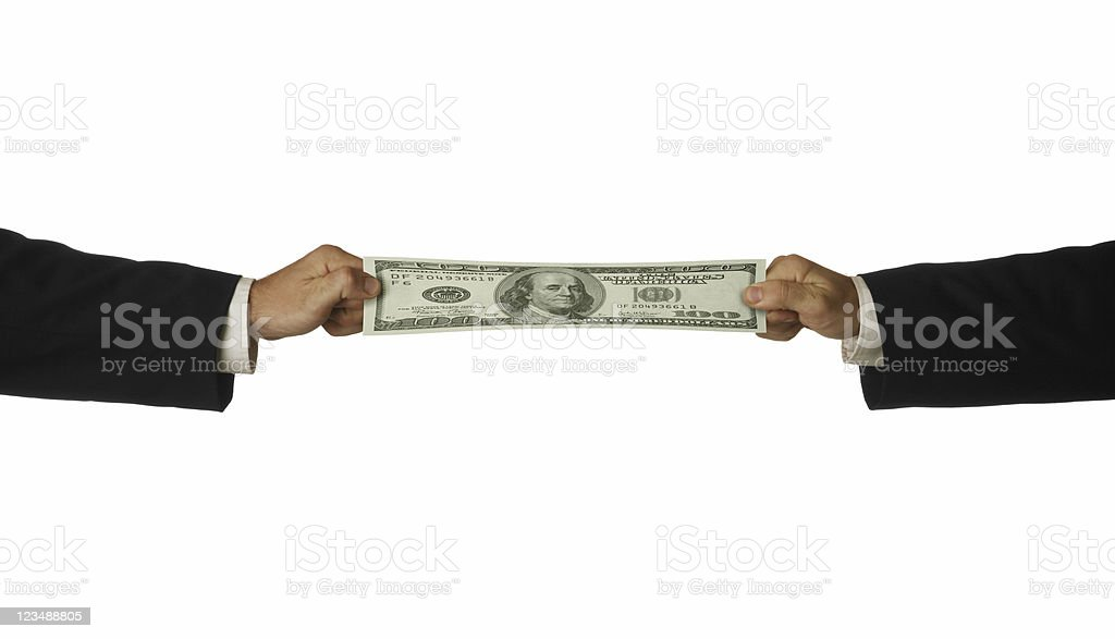 stretching the buck royalty-free stock photo